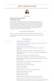 Human Resource Manager Resume Example