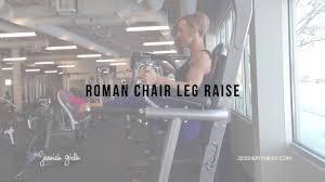 jessie s girls training programs roman chair leg raise youtube