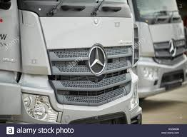 Front Grills Of A New Mercedes-Benz Trucks Stock Photo: 164813733 ...