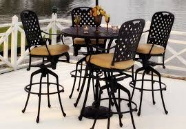 5 Piece Bar Height Patio Dining Set by Furniture Enjoy Your Dining Time With Bistro Table And Chairs