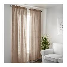 Ikea Sanela Curtains Brown by Aina Curtains 1 Pair Beige Dark Furniture Room And Living Rooms