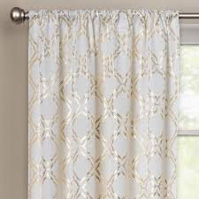 Gold And White Sheer Curtains by Curtain And Gold Dot Sheer Curtain Intended For White And Gold