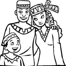 A Joyful Family On Celebrating Kwanzaa Coloring Page