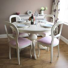 Shabby Chic Round Dining Room Table And Chairs • Dining Room
