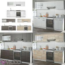 details zu vicco küche raul küchenzeile küchenblock einbauküche 240 cm fronten wählbar