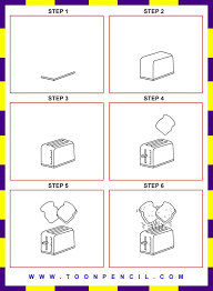 139 How To Draw A Toaster For Kids Step By