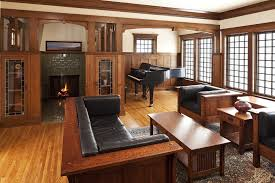 American Craftsman Style Homes Pictures by Craftsman Style Windows With Wood Room Divider Living Room