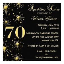 70th Birthday Party Invitations Wording Pinterest