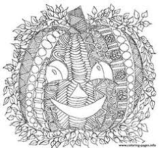 Pumpkin Smile Adult Halloween Coloring Pages Printable And Book To Print For Free Find More Online Kids Adults Of