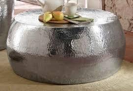 home affaire couchtisch aluci aus schönem aluminium in hammerschlag optik höhe 29 5 cm