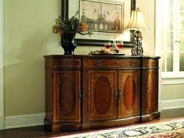 Oak Buffet Table Dining Room Serving For With Wine Storage Sideboards