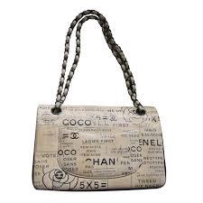 chanel timeless medium newspaper print so black handbags leather