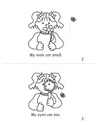 Stupendous 5 Senses Coloring Pages Five Inside