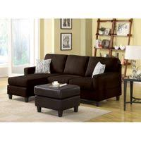 Chocolate Corduroy Sectional Sofa by Rent To Own Sectional Sofas Flexshopper