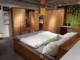 schlafzimmer dieter knoll amalfi mit bett 2 nachttischen und eckkleiderschrank mit einteilung erle xxxlutz wiesbaden