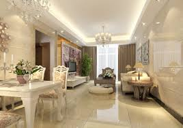 Decoration Interior Design Living Room Classic With Dining Bed