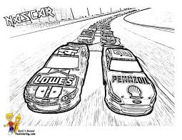 American Nascar Racing Car Coloring Pages For Boys 62917