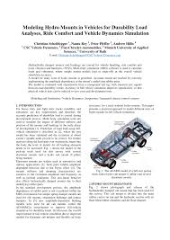 100 Used Truck Mounts PDF Modeling Hydro In Vehicles For Durability Load Analyses