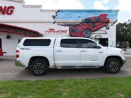 100 Ranch Truck Caps 2017 White Toyota Tundra Echo Windoor TopperKING