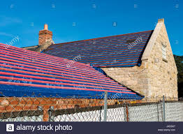 Klober Permo Air Underlay On The Roof Of A House Under Construction Langtoft Near Peterborough Lincolnvshire England UK