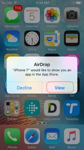 transfer apps to new iPhone using AirDrop
