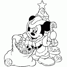 Coloring Print Disney Christmas Pages To Free At Printable Backgrounds