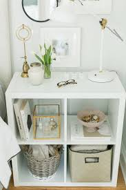 Great Idea For The Guest Room Use Ikeas Kallax Expedit Shelf As A Nightstand