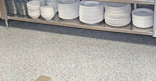 Commercial Kitchen Flooring Types Excellent Healthy Hygienic Restaurant Intended For Epoxy Modern Homes