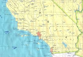 California South Map High Resolution Southern Road