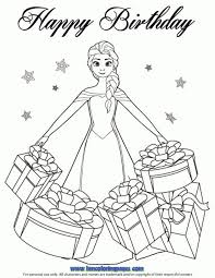 Beautiful Elsa Gifts Coloring Page