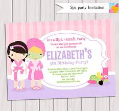 Pamper Party Invite Template New Printable Girls Spa Invitation Orderecigsjuicefo Of