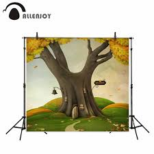 100 Tree House Studio Wood Allenjoy Photography Backdrop Cartoon Wizard Green Tree House Custom