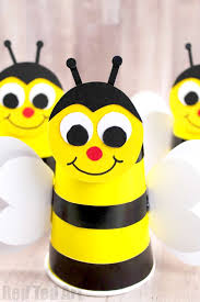 Easy Bee Cup Craft For Preschool How To Make A Paper Bumble