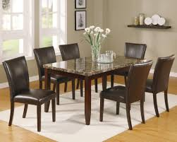 Ferrara 7 Piece Dining Table And Chairs Set By Crown Mark At Dunk & Bright  Furniture Luciana Presso Brown 5 Pcs Faux Marble Top Ding Table Set 30 Most Terrific Counter Height Ding High Top Room Table Camelia Espresso Round Glass With Inverted Base By Crown Mark At Dunk Bright Fniture Kitchen Amazing And Chairs Ktaxon Piece Set 4 Leather Chairsglass Fnitureblack Marble Effect Ding Table And Chairs Snnonharrodco Room Giveandgetco W Dinette Black White Rectangular Belfort Essentials Giantex Padded Metal Frame For Breakfast Verano 5pc Contemporary 45 Steve Silver Rooms Less D989 Wglass Grey Global Woptions