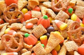 Pumpkin Spice Chex Mix With Candy Corn by Halloween Harvest Hash Chex Mix