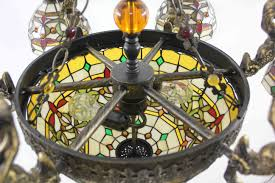 Antique Tiffany Lamps Ebay by Tiffany Chandelier Stained Glass Lamp Ceiling Pendant Light