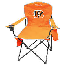 100 Folding Chair With Carrying Case Coleman NFL Cincinnati Bengals Steel At Lowescom