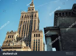 100 Architectural Masterpiece Famous Downtown Warsaw Stock Photo