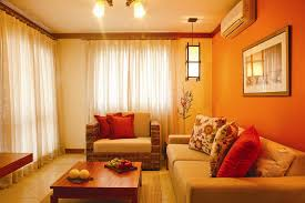Interior Design Orange Living Enchanting Orange Living Room Design