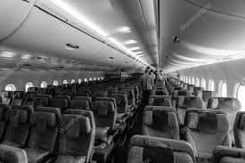 Interior of an economy class of the world s largest aircraft