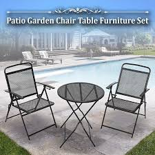 100 Black Wrought Iron Chairs Outdoor Amazoncom BenefitUSA 3 Piece Bistro Patio Set Table And