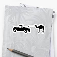 100 Toe Truck Camel Tow Pulling Camel Stickers By Bawdy Redbubble