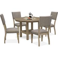 Tribeca Round Dining Table And 4 Upholstered Side Chairs   Value ... Kitsch Round Glass Table Set Of 4 Chairs Dfs Ireland Mcombo Mcombo Ding Side 4ding Clear Ingatorp And Chairs White Ikea Cally Modern Table With La Sierra Fniture Grindleburg 60 Woodstock Carisbrooke Barker Stonehouse Dayton 48 Upholstered Shop Hlpf5cap 5 Pc Small Kitchen Setding Hanover Traditions 5piece In Tan A Jofran Simplicity Chair Slat Back Pier 1 W Aptdeco Rovicon Lulworth Pedestal