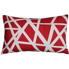 Red Decorative Pillows by Designer Throw Pillows Geometric Pillows Pillow Décor