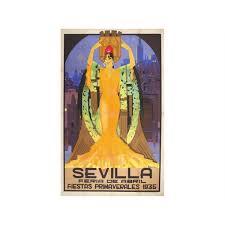 SEVILLA FERIA DE ABRIL BALCERA 1935 165x111cm 65x437in