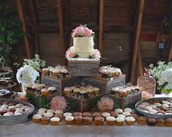 26 Cupcake Tower Birthday Cake Unique Rustic Stand Wood