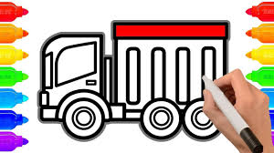 How To Draw Dump Truck | Construction Truck Coloring Pages | Art ... How To Draw Dump Truck Coloring Pages Kids Learn Colors For With To A Art For Hub Trucks Boys Make A Cake Hand Illustration Royalty Free Cliparts Vectors Printable Haulware Operations Drawing Download Clip And Color Page Online