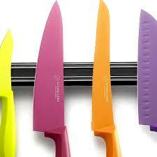 coffret couteaux cuisine set de couteaux de cuisine à lames colorées barre aimantée