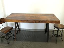 Industrial Butcher Block Table Dining Room Tables Nice With Picture Of Ideas New At Work