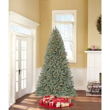 Vickerman Slim Flocked Christmas Tree by Flocked White Spruce Full Pre Lit Christmas Tree Walmart Com